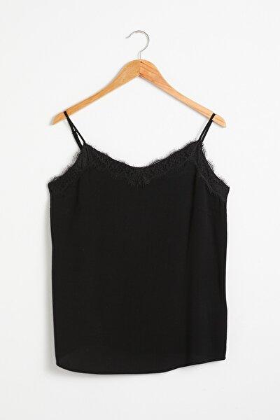 LC Waikiki Kadın Siyah Bluz 0WGR73Z8