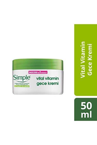 Simple Vital Vitamin Hassas Ciltlere Uygun Gece Cilt Bakım Kremi 50 Ml