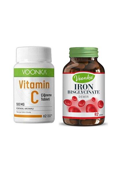 Voonka Vitamin C & Iron Bisglycinate Avantaj Paketi