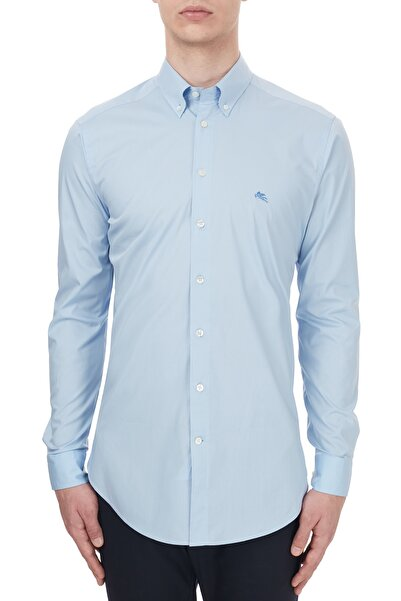 ETRO Pamuklu Düğmeli Yaka Slim Fit Gömlek Erkek Gömlek 1k964 3400 0250