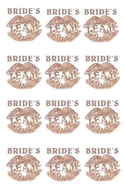 Kullan At Market Bride S Team Dudaklı Dövme Altın 12'li