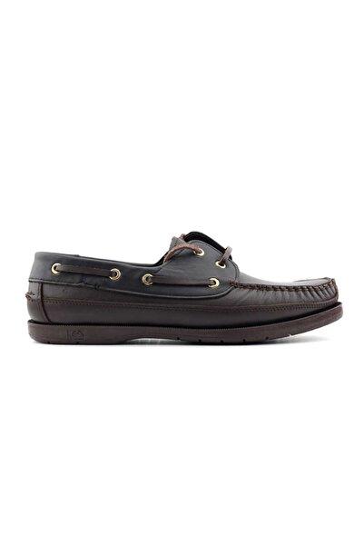 Kayra Erkek Kahverengi Siyah Hakiki Deri Ayakkabı 301