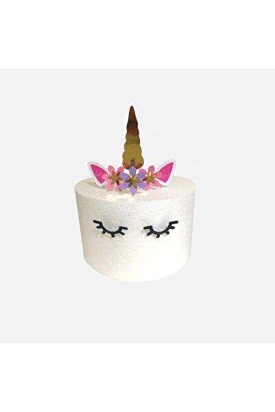 Fish Dükkan Unicorn Temalı Doğum Günü Pasta Süsü