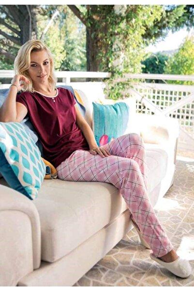 Yeni İnci Kadın Bordo Pijama Takımı