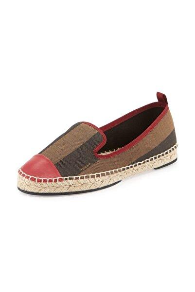 Fendi Kadın Kırmızı Hakiki Deri Ayakkabı