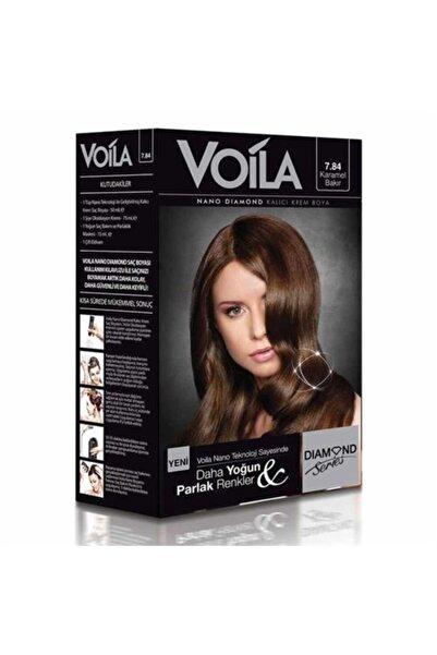 Voila Nano Diamond 7.84 Karamel Bakır Kalıcı Saç Boyası