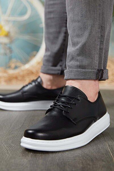 DARK SEER Siyah Beyaz Erkek Casual Ayakkabı DS.CHK003