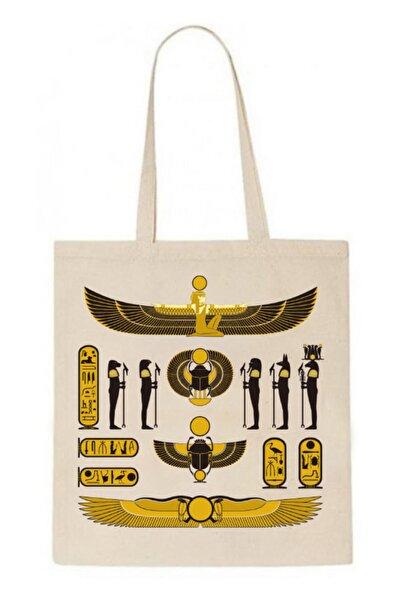 ABC Antik Mısır -2 35x45 Keten Çanta