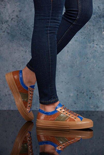 DARK SEER Kadın Sax Krokodil Sneaker