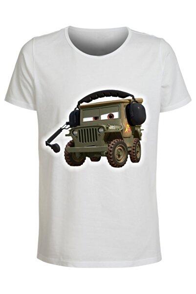 ABC Erkek Beyaz 15 Baskılı T-shirt