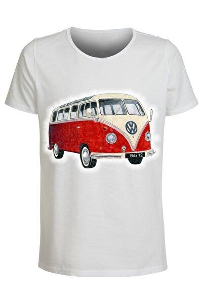 ABC Erkek Beyaz Baskılı T-shirt