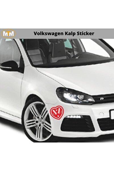 Adel Volkswagen Kalp Oto Sticker 15 Cm