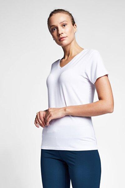Lescon Kadın Beyaz T-shirt 20s-2202-20b