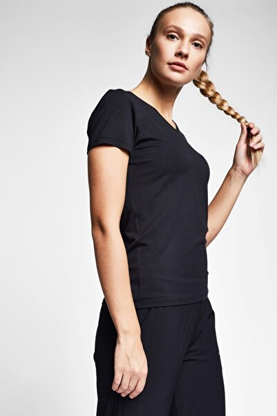 Lescon Kadın Siyah T-Shirt - 20S-2202-20B