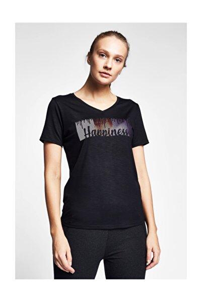 Lescon Kadın Siyah T-Shirt