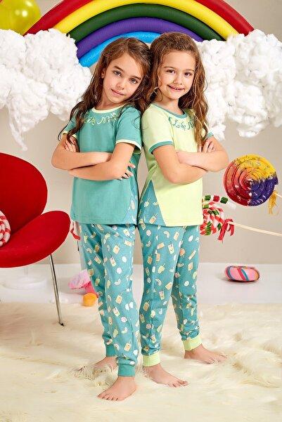 Lohusa Sepeti Kız Çocuk Milk Shake Pijama Takımı 0064