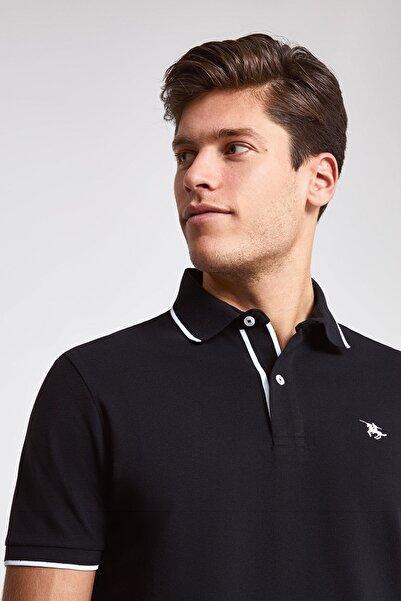 D'S Damat Siyah Renk Erkek  T-shirt (Regular Fit)