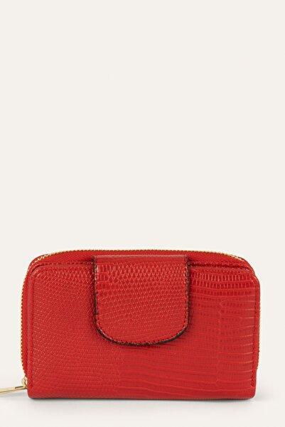 Mudo Kadın Kırmızı Bölmeli Cüzdan 1219604
