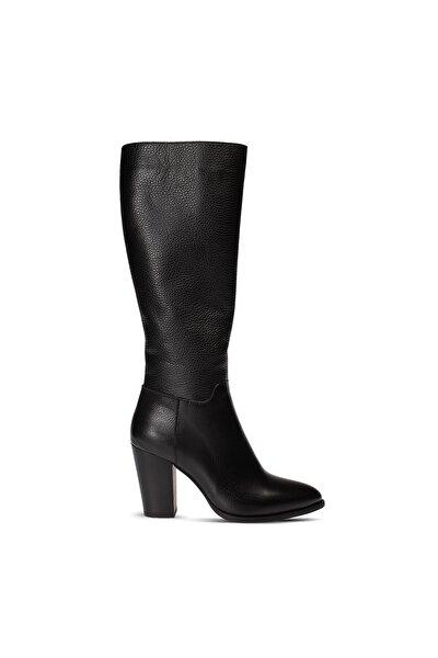 Deery Kadın Siyah Deri Çizme