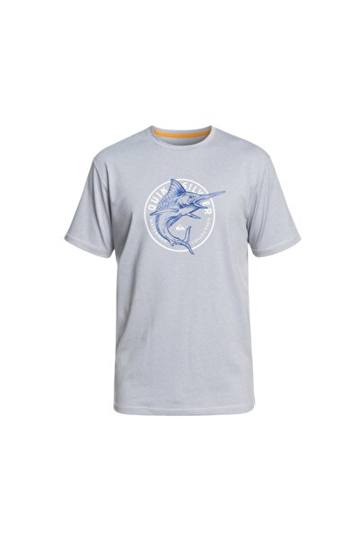 Quiksilver Erkek Gri T-shirt Eqmwr03053szp
