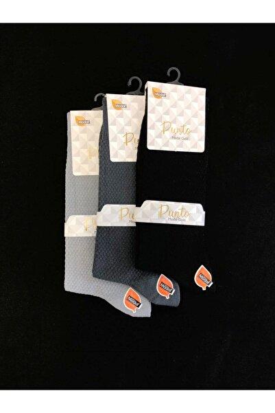 PUNTO Erkek 200 Iğne Dikişsiz Modal Çorap