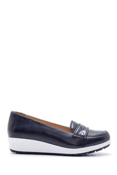 Derimod Kadın Lacivert Yüksek Tabanlı Ayakkabı