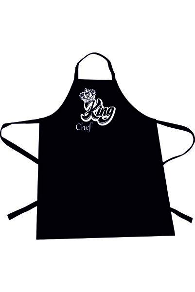 Dolce Mutfak Önlüğü  King Chef  Siyah