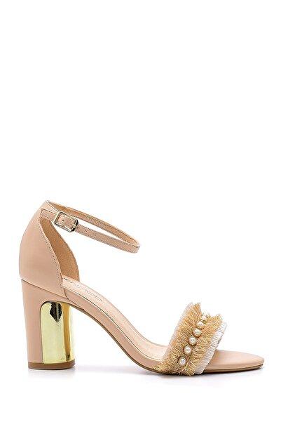 Derimod Kadın Bej Topuklu Sandalet