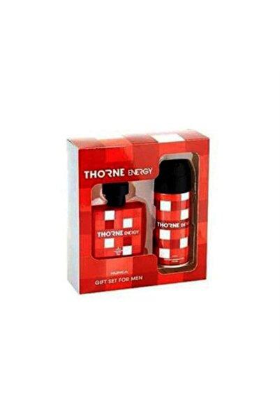 Thorne Hunca Energy Edt 75 ml + 150 ml Deodorant Erkek Set 8693188017636