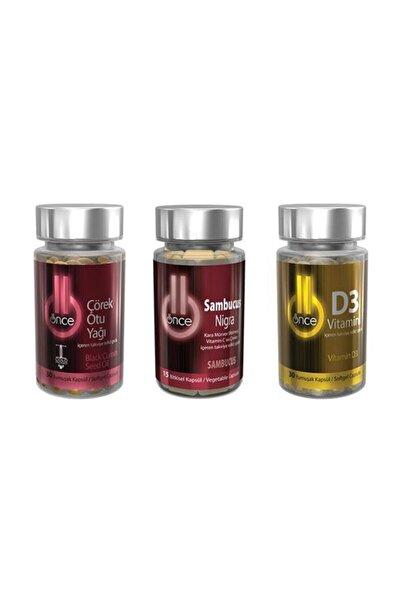Önce Çörek Otu Yağı & Sambucus Nigra & D3 Vitamini Gıda Takviyesi Avantaj Paketi