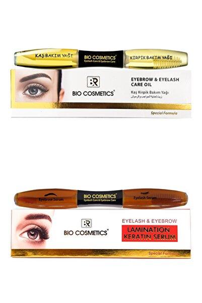 BR Bio Cosmetics Kaş Kirpik Bakım Keratin Ve Yağ Set 2'li