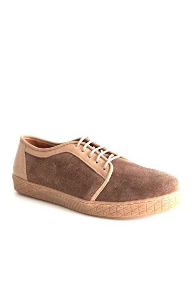 Beta Shoes Günlük Ayakkabı Hakiki Deri Kadın Süet Toprak