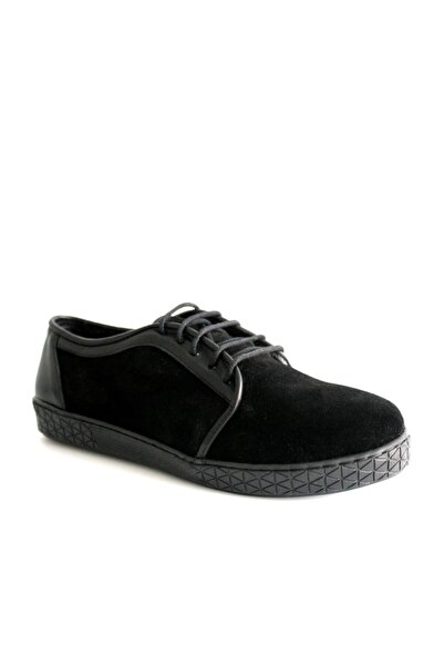 Beta Shoes Günlük Ayakkabı Hakiki Deri Kadın Süet Siyah