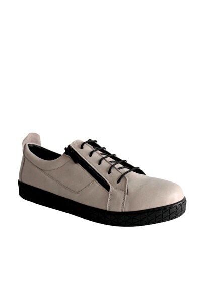 Beta Shoes Kadın Hakiki Deri Günlük Ayakkabı Gri