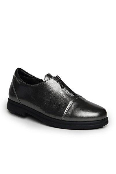 Beta Shoes Günlük Ayakkabı Hakiki Deri Kadın Platin