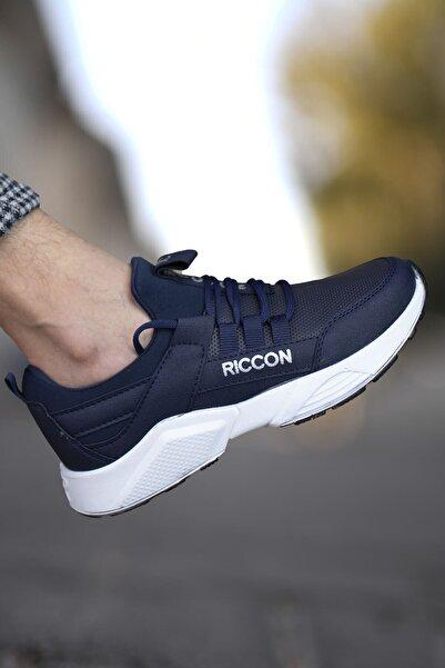 Riccon Lacivert Beyaz Cilt Çocuk Sneaker 002072