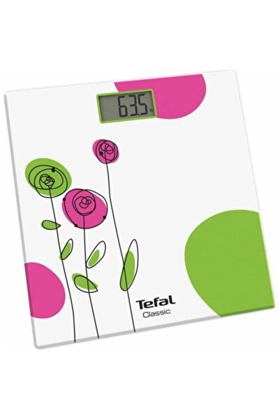 TEFAL Beyaz Pp1146v0 Classic Çiçek Temalı Dijital Banyo Tartısı ve Baskül