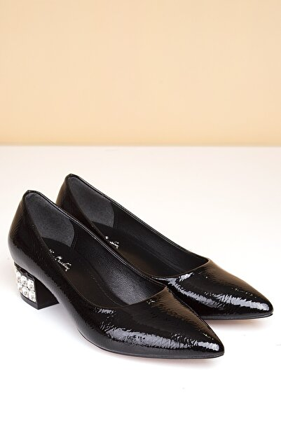 Pierre Cardin Kadın Siyah Topuklu Ayakkabı Pc-5031