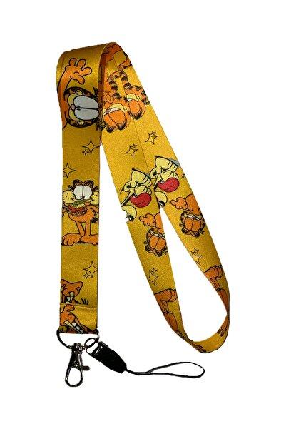 StormiStoretr Garfield Desenli Yaka Kartı & Boyun Askı Ipi