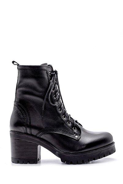 Derimod Kadın Siyah Deri Topuklu Bot