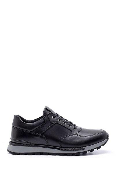 Derimod Erkek Siyah Deri Casual Sneaker