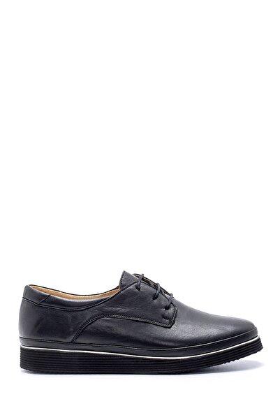 Derimod Kadın Siyah  Deri Casual Ayakkabı