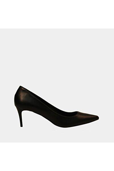 Hotiç Kadın Siyah İnce Topuklu Ayakkabı