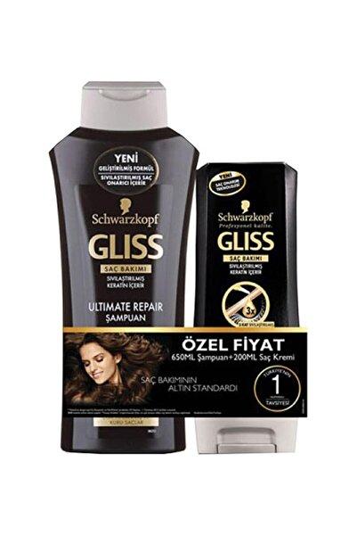 Gliss Schwarzkopf Ultimate Repair Şampuan 650 ml ve 200 ml Saç Kremi