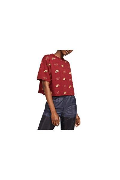 Nike Kadın Kırmızı Sportswear T-shirt Bv5015-677