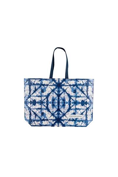 English Home Sea Batik Alışveriş Çantası 54,5x38 Cm Beyaz