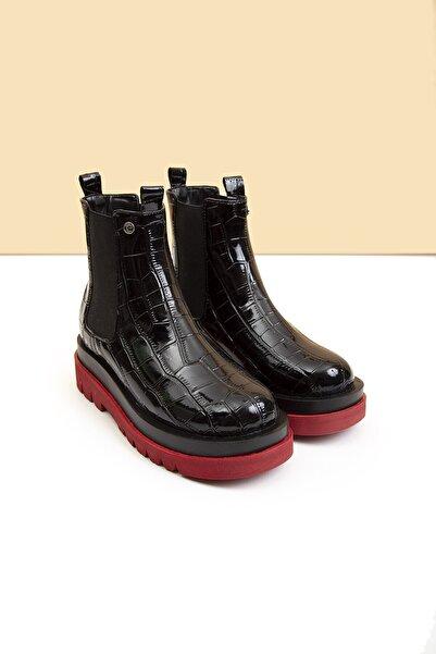 Pierre Cardin Pc-50828-3411-140 - Siyah Krokodil Kırmızı Taban
