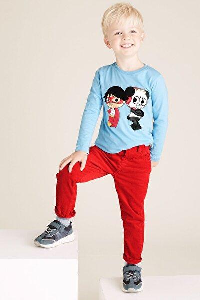 Marks & Spencer Erkek Çocuk Regular Fit Kadife Pantolon