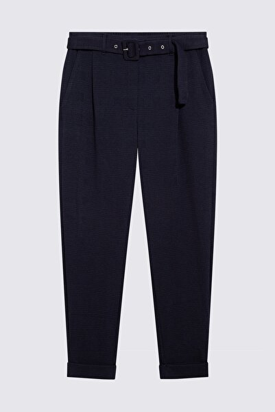 Marks & Spencer Kadın Lacivert Kemerli Pantolon T57007198M