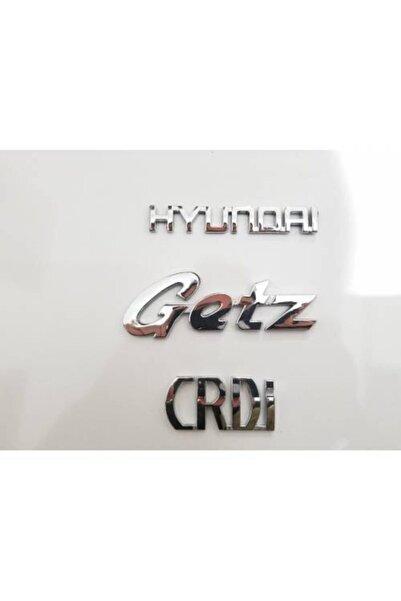 Hyundai Hyundaı Getz Ve Crdi Bagaj Yazısı Arma 3 Adet-yüksek Kalite